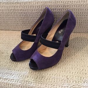 Michael Kors Purple Block Heels